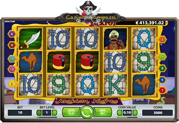 Arabian Nights pelaaminen