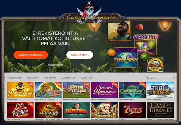 Ninja Casino kolikkopelit