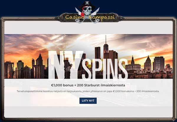 NY Spins bonukset
