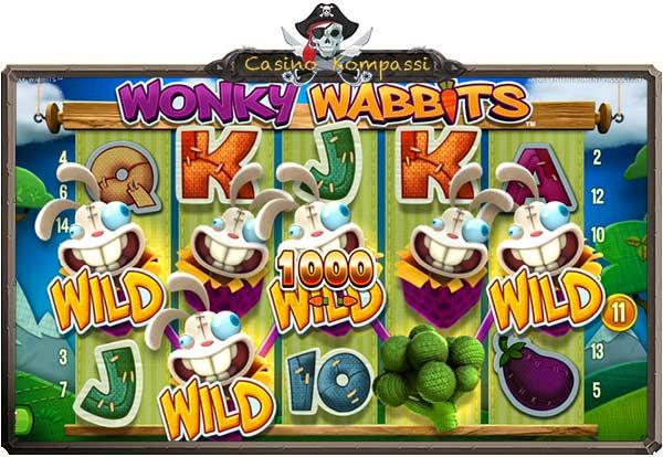 Wonky Wabbits hedelmäpeli