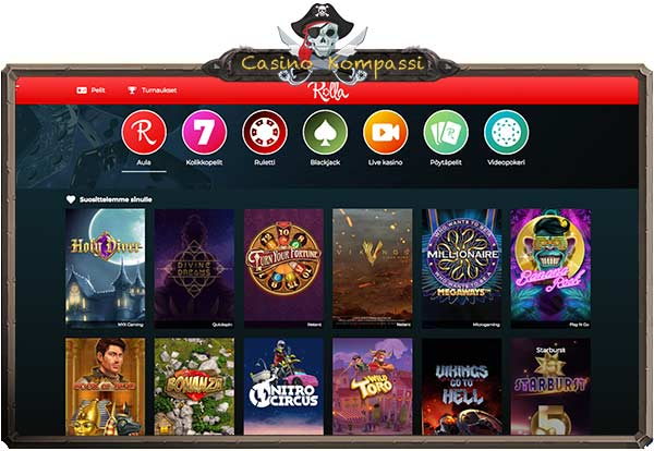 Rolla casino jackpot pelit