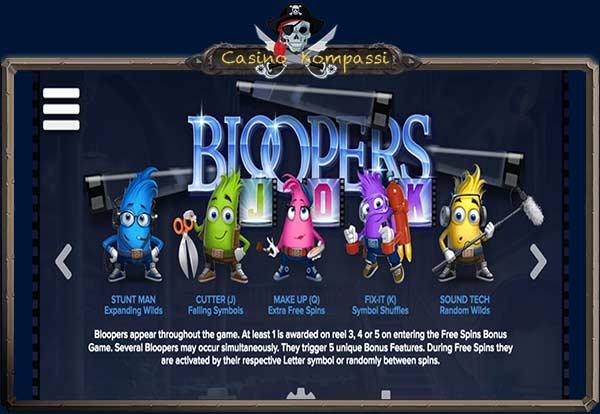 Bloopers ominaisuudet