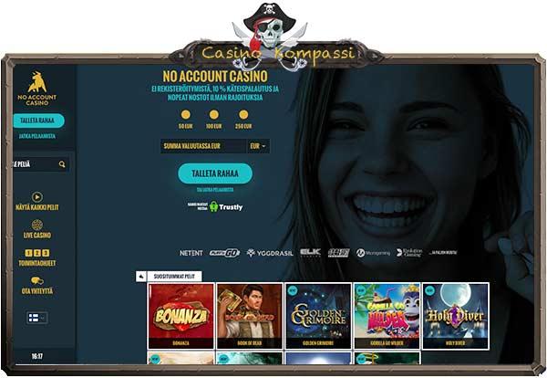No Account Casino arvostelu